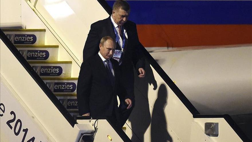 Putin llega a Brisbane para el G20 con la crisis de Ucrania de fondo