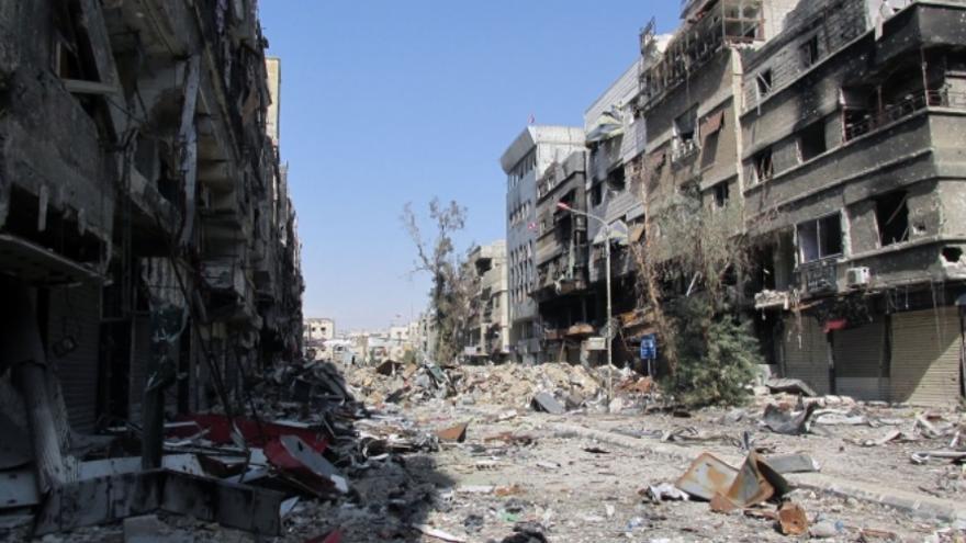 Yarmouk, el campamento de refugiados bajo asedio en febrero de 2014. / Foto: UNRWA España www.unrwa.es.