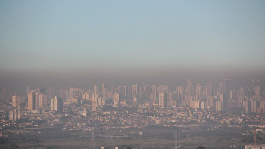 Boina de contaminación en Madrid