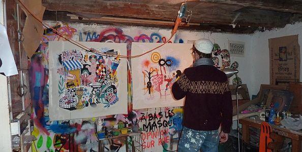 3ttMan, en su estudio de la calle Noviciado | Foto A.P.