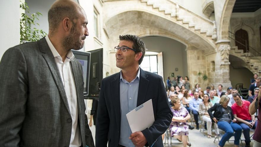 Pablo Seguí y Jorge Rodríguez, en la Diputación de València