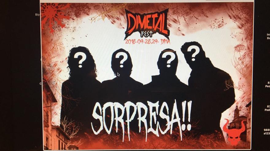 Uno de los carteles del Dimetal Fest
