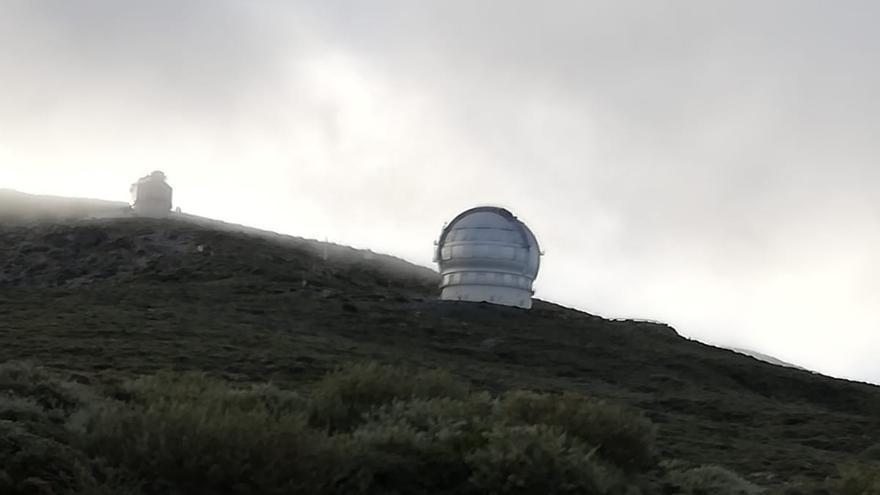 Imagen de la helada en el entorno del Observatorio Astrofísico del Roque de Los Muchachos (Garafía)