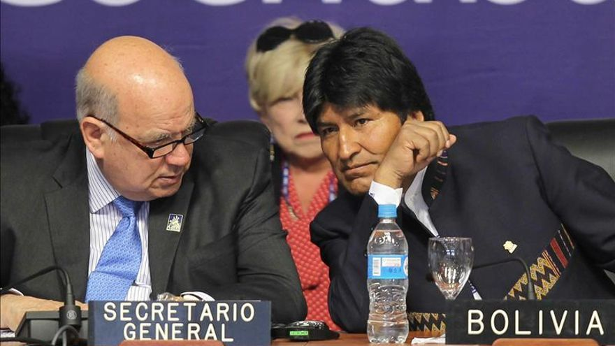 Insulza expondrá a Morales su plan contra las drogas y la nueva visión de OEA