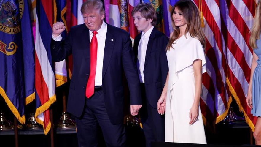 Trump, en su primera comparecencia tras ganar las elecciones.