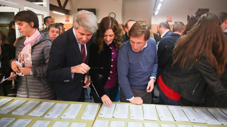 Almeida, Garrido y Díaz Ayuso, en una foto reciente.