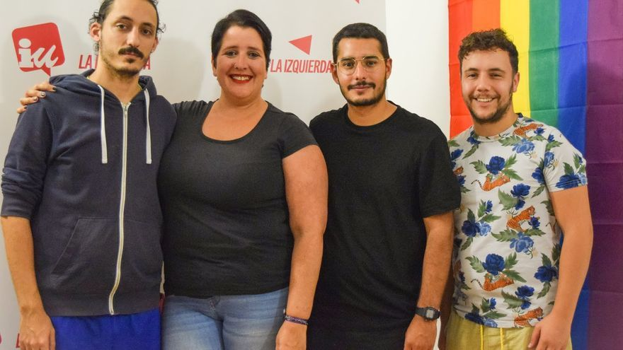 De izquierda a derecha: Adonai Carballo, Noemi Hernández, Cristian Marrero y Jorge González.