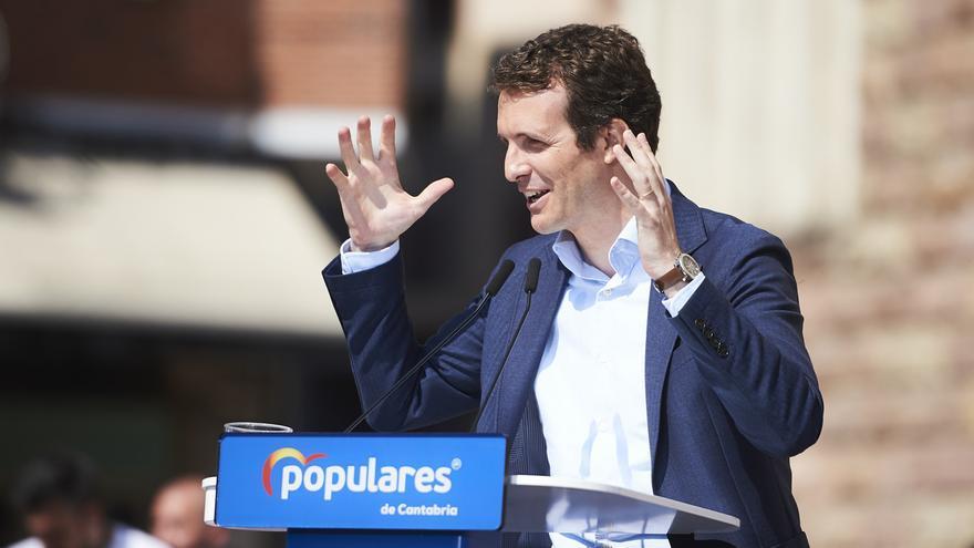"""Casado llama a españoles a """"no despistarse"""" y apostar por el """"voto unido"""" al PP para echar a Sánchez de la Moncloa"""