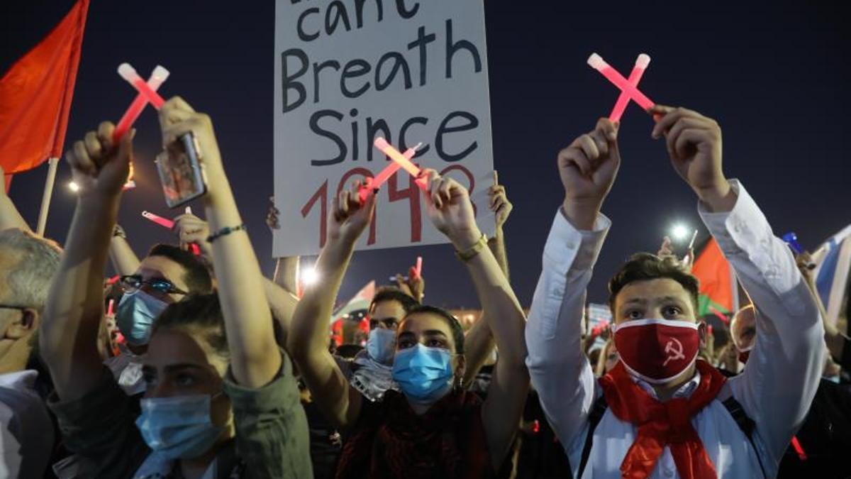 Miles de personas protestan en Tel Aviv contra la anexión israelí de Cisjordania / EFE