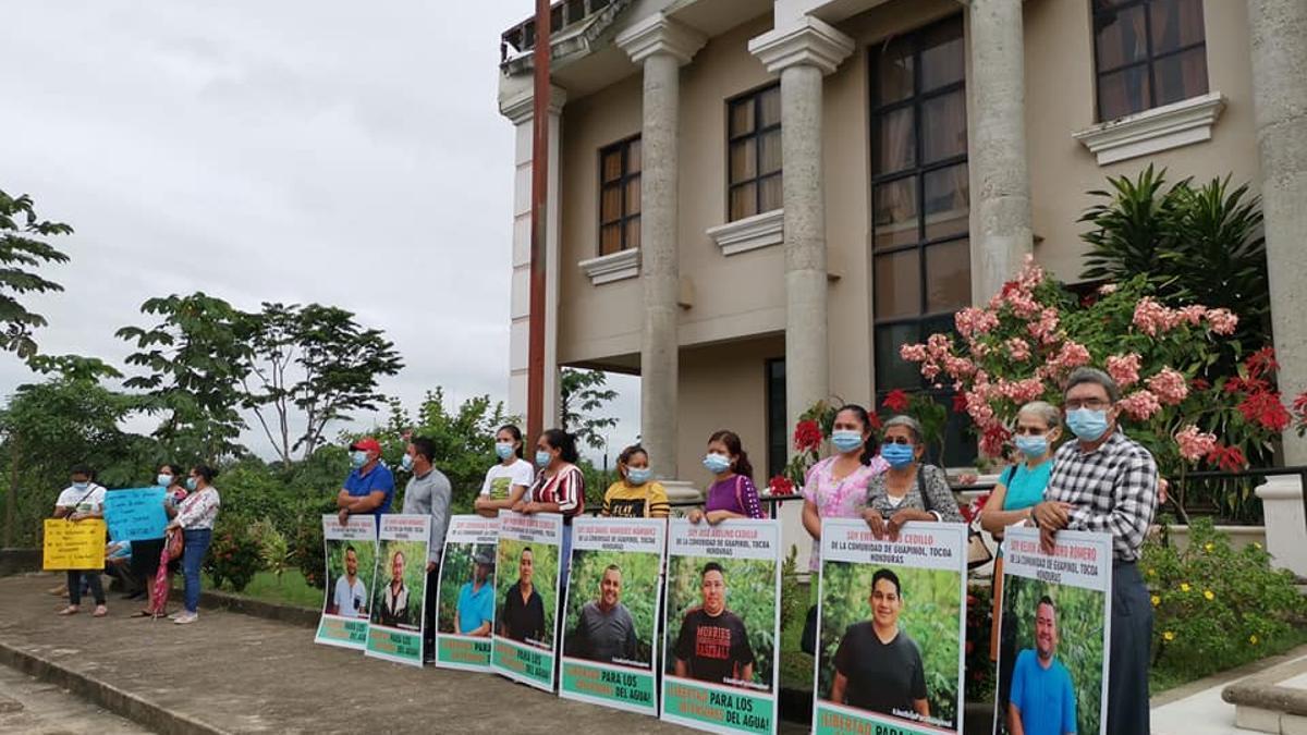Pedido de liberación a activistas en Honduras.