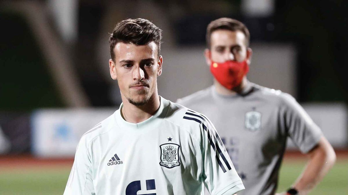 Antonio Blanco, en un entrenamiento de la selección española