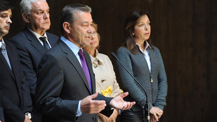 Paulino Rivero en el Consejo de Gobierno celebrado este lunes.
