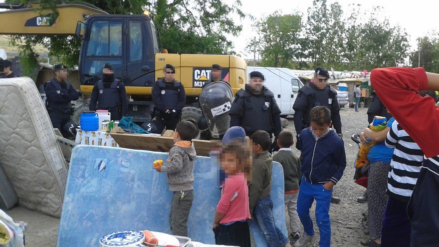 Desalojo policial en El Gallinero