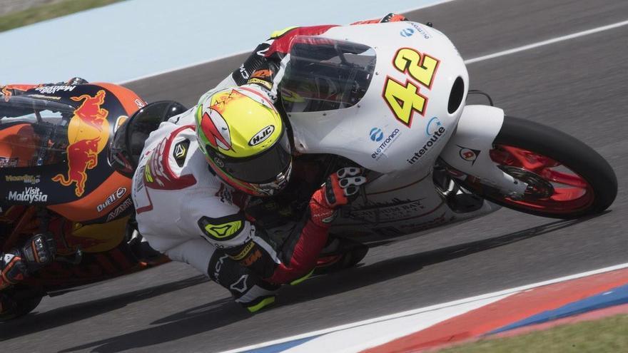 El piloto conileño Marcos Ramírez, que compite en Moto3 en el Mundial