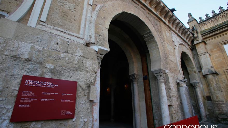 Puerta de la Mezquita-Catedral donde se retiró la celosía de madera.