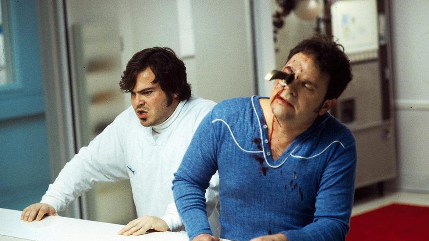 Jack Black y Denis Johnson en la adaptación cinematográfica de 'Hijo de Jesús' (1999)