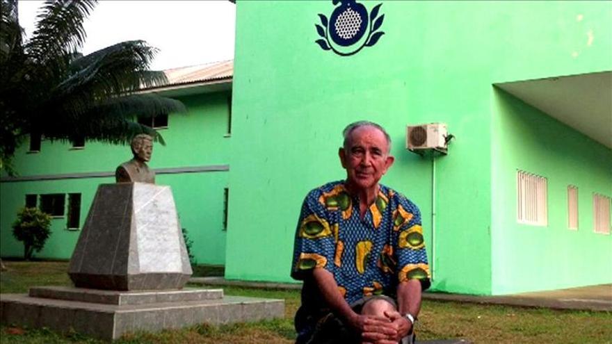 El sacerdote infectado de ébola en Liberia.