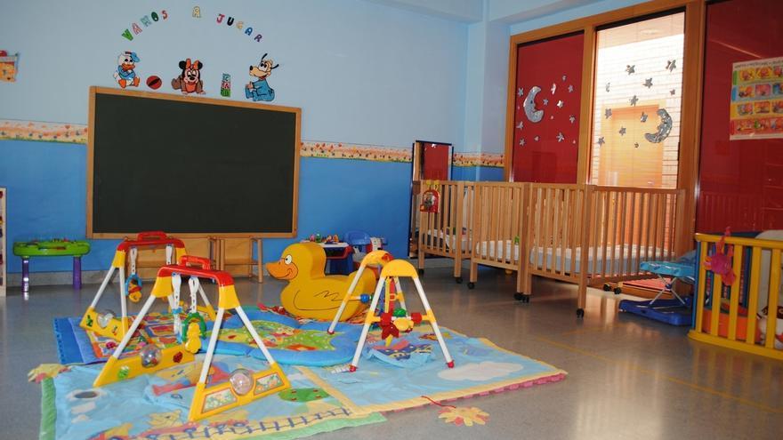 Interior de una escuela infantil. Foto de archivo.
