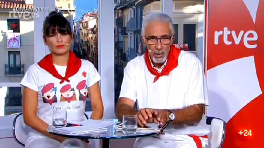 Javier Solano y Elena S. Sánchez en 'Los Desayunos'