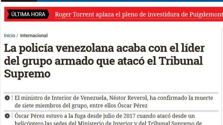Venezuela líder grupo armado