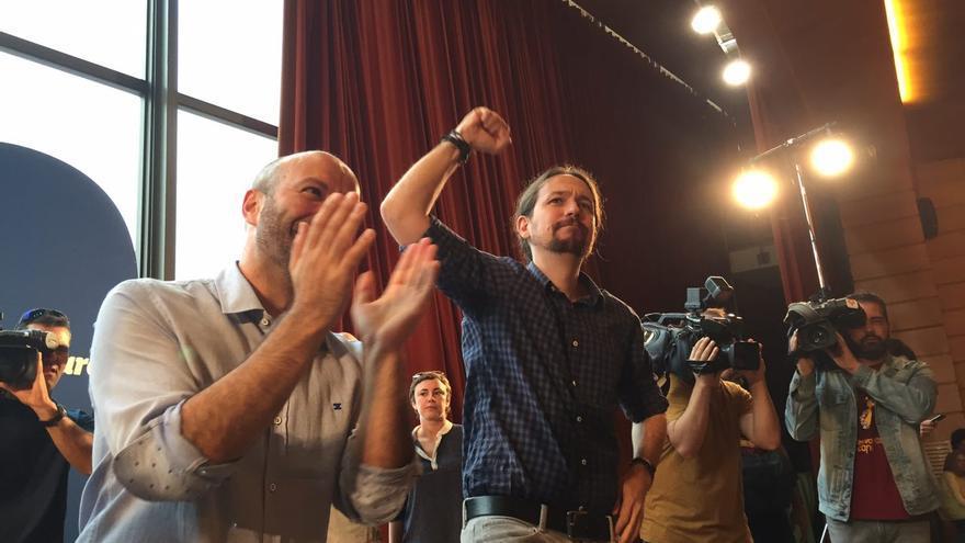 Acto de Pablo Iglesias en la campaña de En Marea de las elecciones gallegas del 25S de 2016.