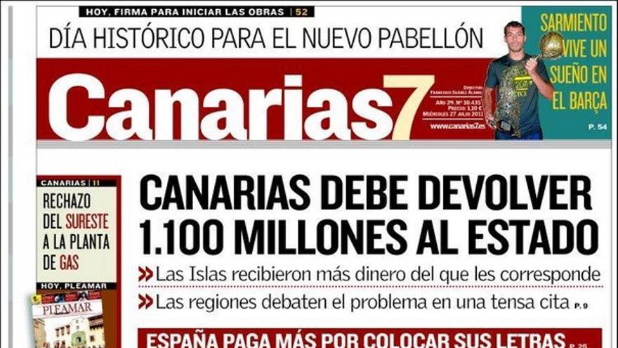 De las portadas del día (27/07/2011) #2