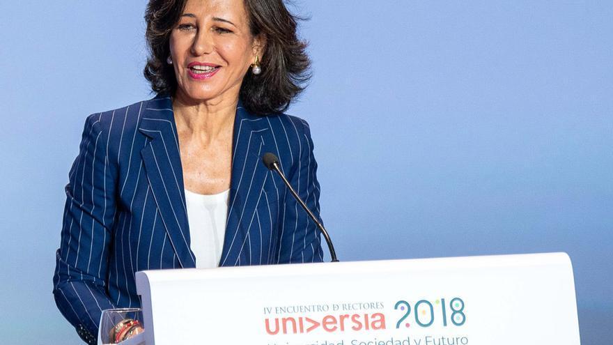Ana Botín durante su intervención.