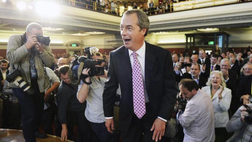 El antieuropeo Farage niega que haya discriminación contra mujeres en la City