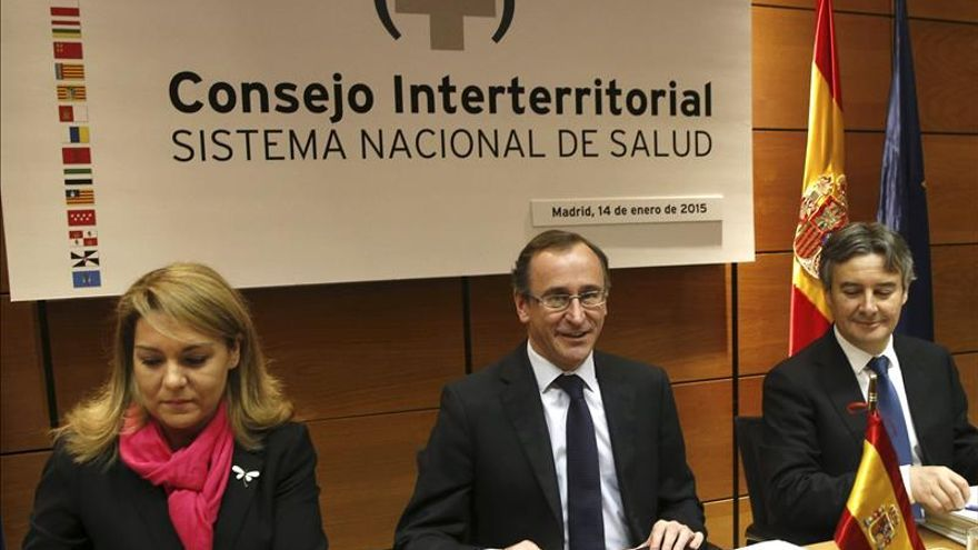 Alfonso Alonso tras su primer consejo interterritorial de sanidad.