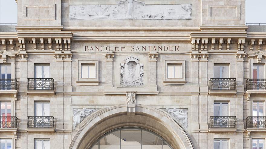 Proyecto para reformar la sede del Banco Santander en el Paseo de Pereda.