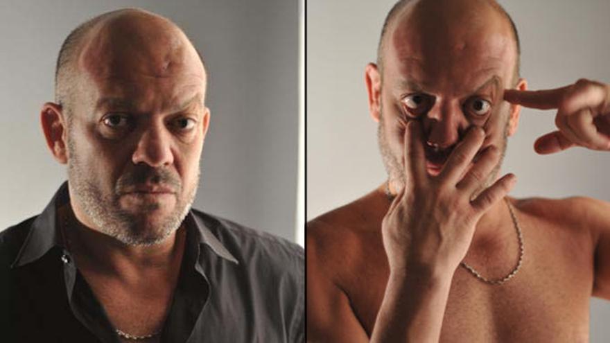 Chicho Castillo, en dos fotos de su agencia de representación