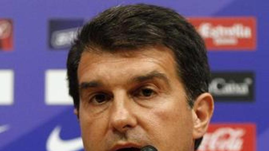 El presidente del FC Barcelona, Joan Laporta