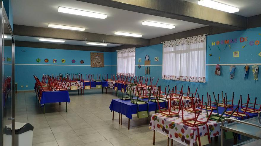 Comedor del Centro de Educación de Infantil y Primaria (CEIP) de Santo Domingo (Garafía).