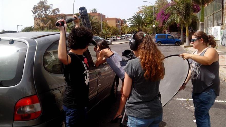 Alumnos de Realización de Audiovisuales y Espectáculos del CIFP César Manrique