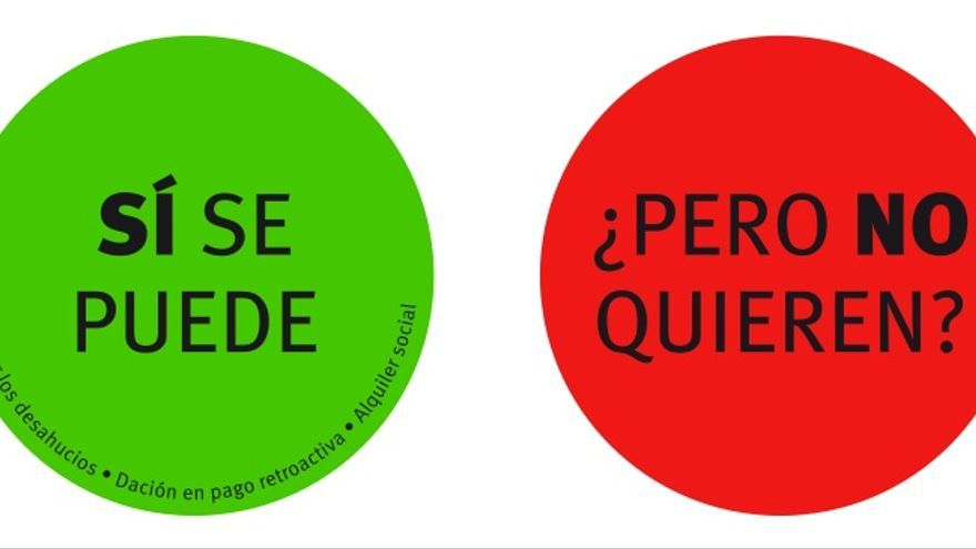 """Imágenes que utiliza la PAH para su campaña """"Hay vidas en juego""""; hacen alusión a los botones que los diputados presionan para votar en el Congreso"""