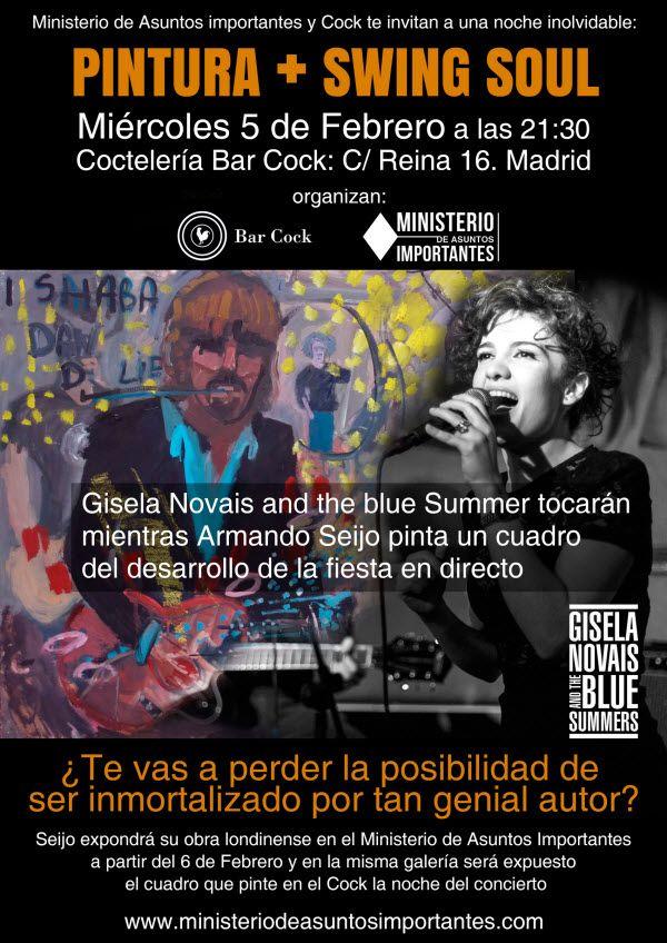 Pintura + Swing Soul en la Coctelería Bar Cock