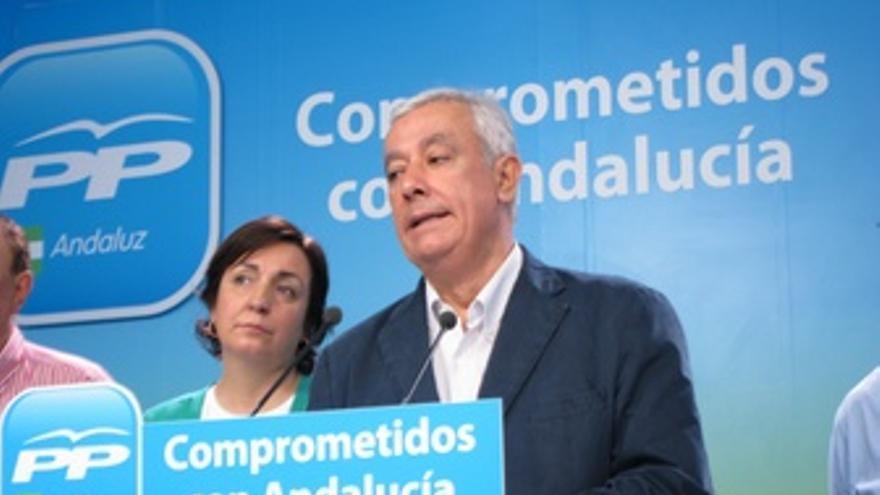 El Presidente Del PP-A, Javier Arenas, En Rueda De Prensa