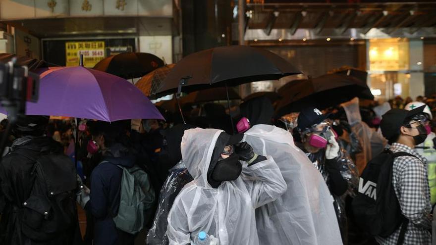 Imagen de las protestas de Hong Kong de este 8 de diciembre