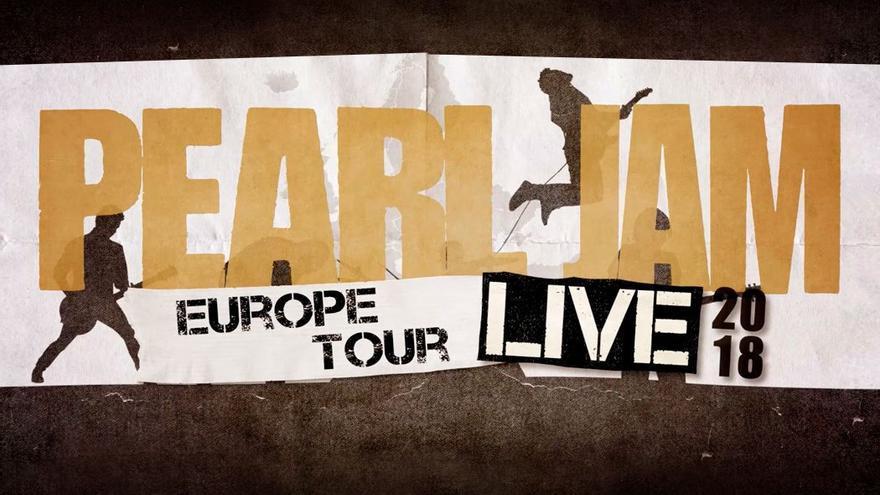 Cartel del tour europeo 2018 de Pearl Jam. (Cedida a CA).