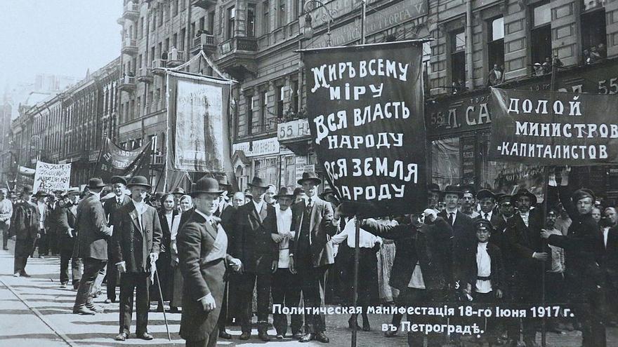Manifestación en Petrogrado, el 18 de junio de 1917