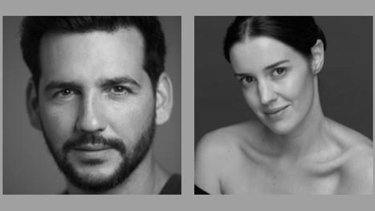 Los actores Fran Perea y Nuria López, que darán vida a don Juan y doña Inés