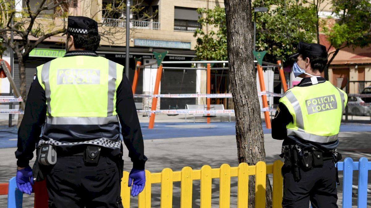 Agentes de la policía local de Paiporta.