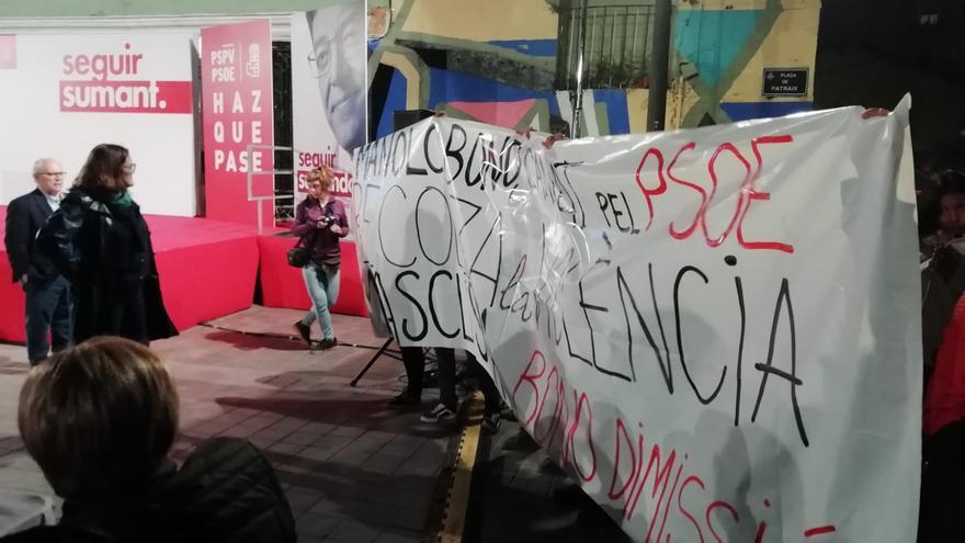 Protesta feminista en Catadau