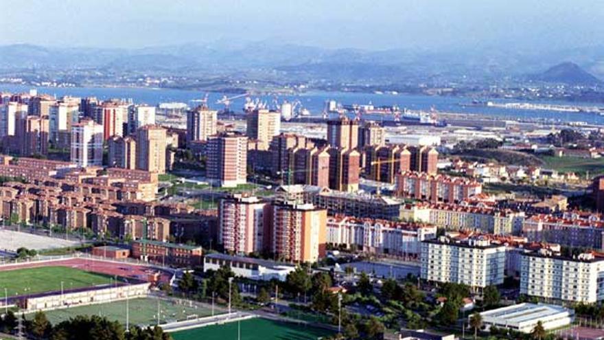 Barrio de La Albericia, en Santander.
