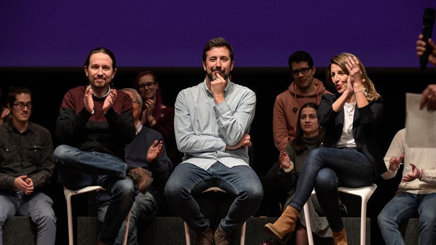 Pablo Iglesias y Yolanda Díaz desembarcan este fin de semana en la campaña de Galicia En Común