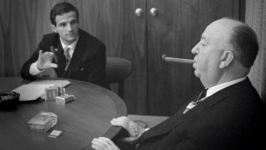 Hitchcock y Truffaut conversan: ambos talentos surgieron al calor de Cahiers du Cinema