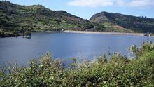 Presa para el almacenamiento de agua en Canarias