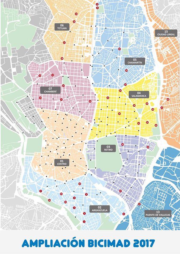 Plano ampliación BiciMad 2017