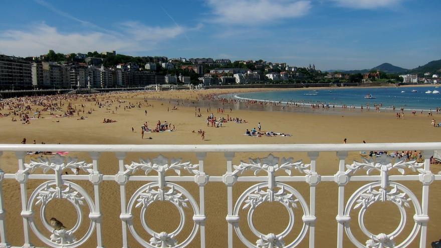 La Concha de San Sebastián, elegida como la mejor playa de Europa y la sexta del mundo