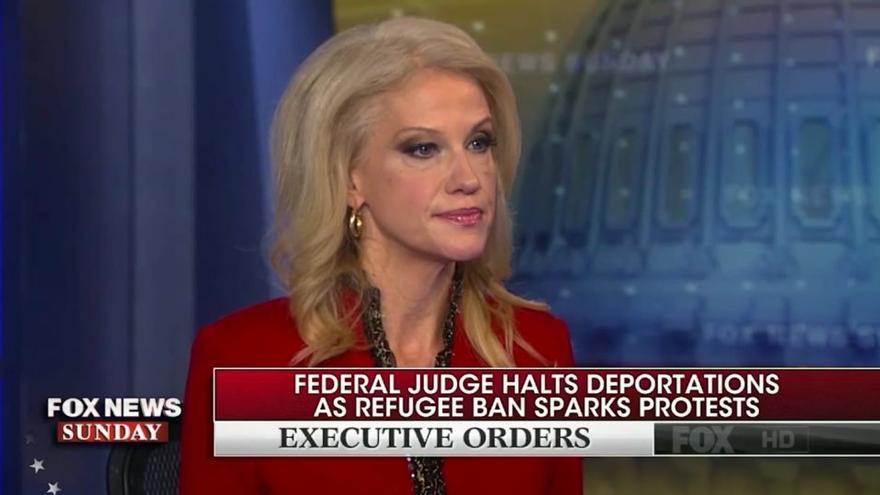 Kellyanne Conway, consejera de Trump, en una entrevista en Fox News.